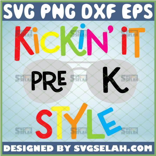 kickin it in pre k style svg