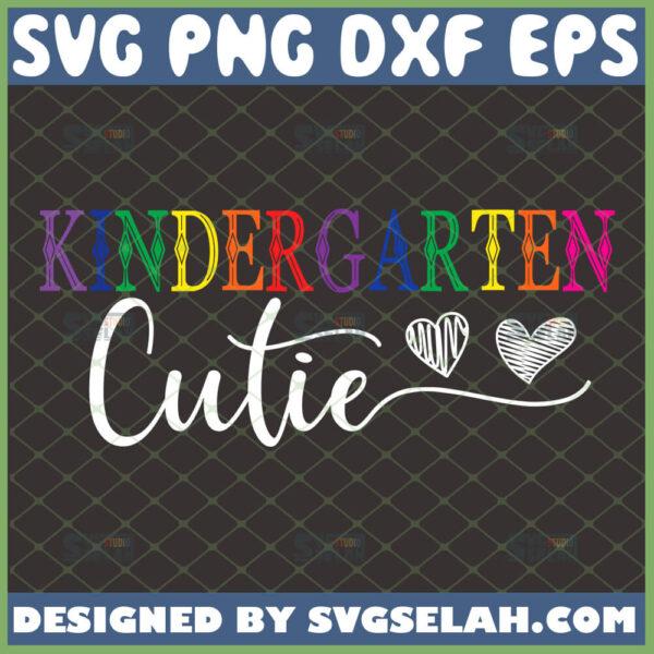 kindergarten cutie svg cute kindergarten shirt svg