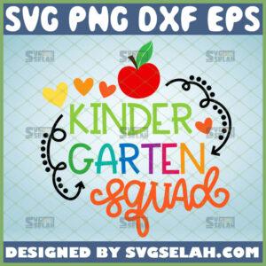 kindergarten squad svg team kindergarten shirt svg