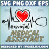medical assistant svg essential heartbeat stethoscope svg