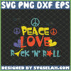 peacce love rock and roll svg hippie logo svg