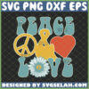 peace and love svg hippie sunflower svg