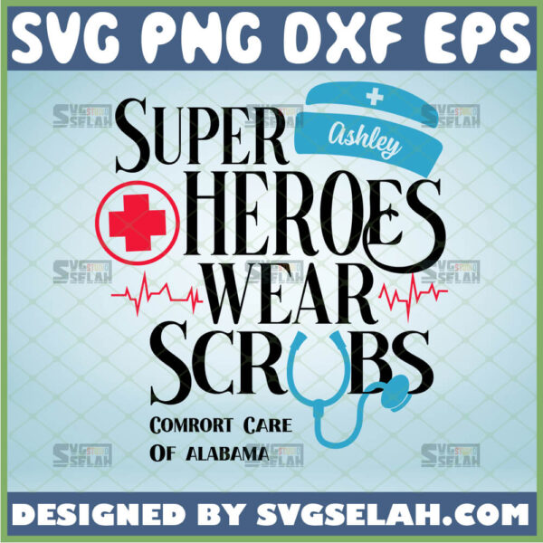 personalized name superheroes wear scrubs svg healthcare heroes quarantine nurse svg
