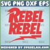 rebel rebel logo svg design inspired by david bowie song