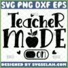 teacher mode on svg teacher appreciation gifts