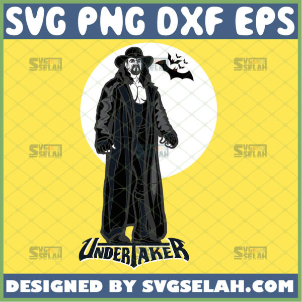the undertaker svg mark william calaway wwe world wrestling federation silhouette files