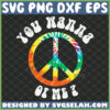 you wanna peace of me svg colorful hippie logo svg