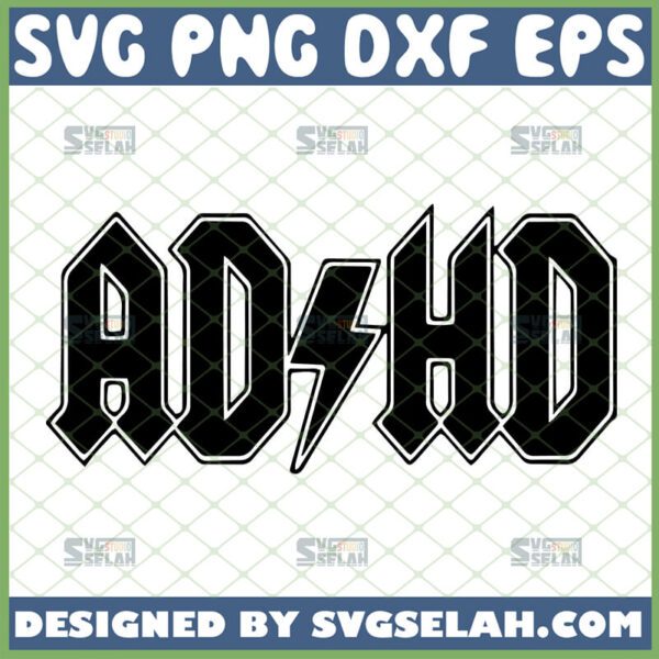 adhd svg gifts for attention deficit disorder