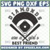 diamonds are a girls best friend svg baseball shirt ideas