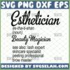 esthetician beauty magician svg esthetician definition svg skincare beauty salon cricut designs