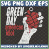 green day american idiot svg heart grenade rock band gifts