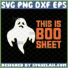 halloween ghost this is boo sheet svg