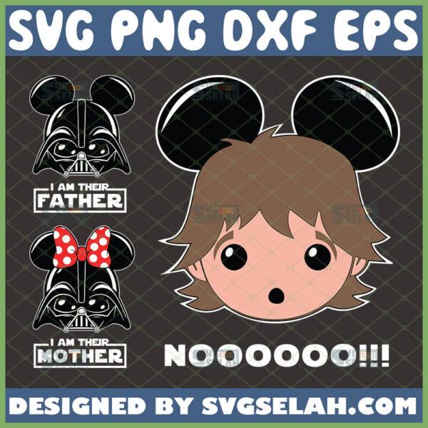 mickey star wars family svg