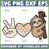 peace love sloth svg cute sloth animal lover gifts
