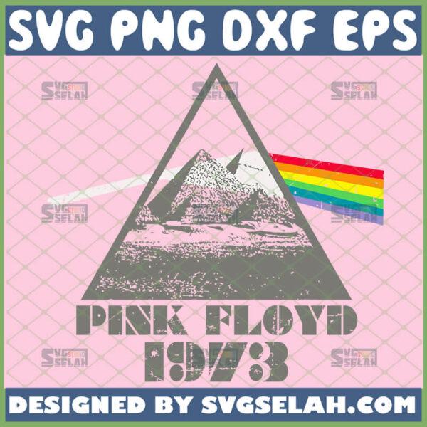 pink floyd svg dark side of the moon pyramid 1973 rock band svg
