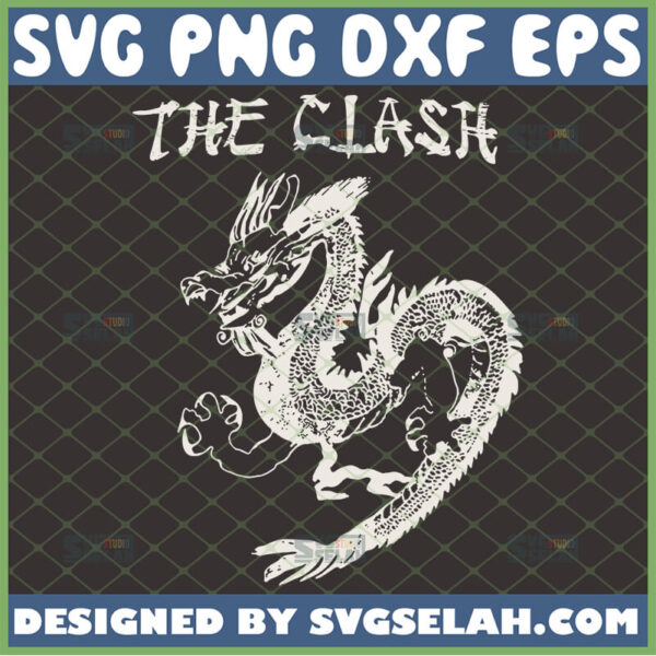 the clash dragon svg music love gifts