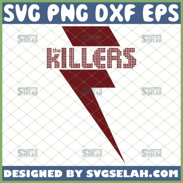 the killers svg logo with lightning bolt rock band shirt ideas