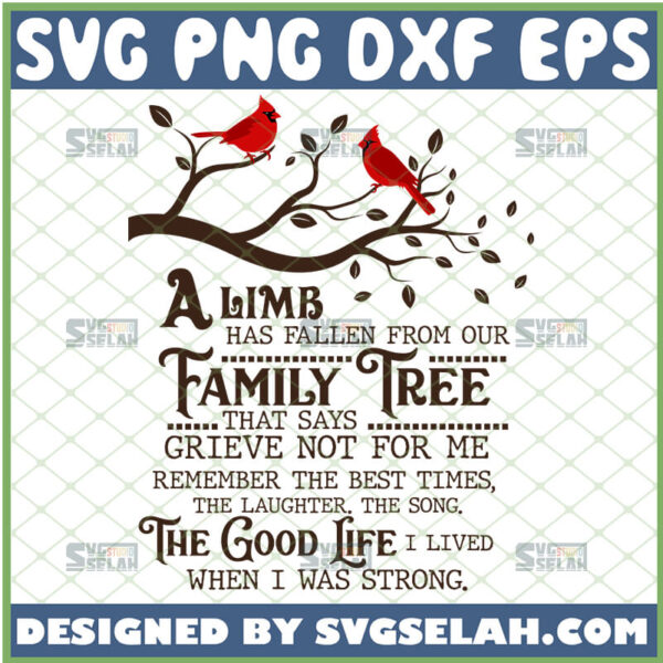 a limb has fallen from the family tree svg