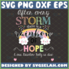 after every storm there is a rainbow of hope svg baby wooden sign ideas