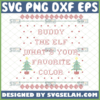 buddy the elf whats your favorite color svg ugly christmas sweater svg