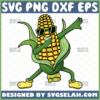 dabbing corn on the cob svg