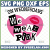 mean girls on wednesdays we wear pink svg