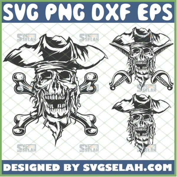 pirate skull and crossbones svg