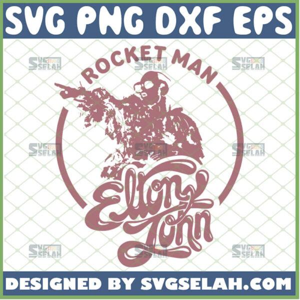 rocket man elton john svg
