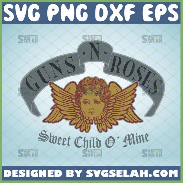 sweet child o mine svg guns n roses inspired