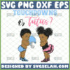touchdown or tutus gender reveal svg baby and football