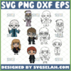 baby chibi harry potter characters svg bundle outline and color